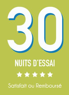 30 muites d'essai satisfait ou remboursé
